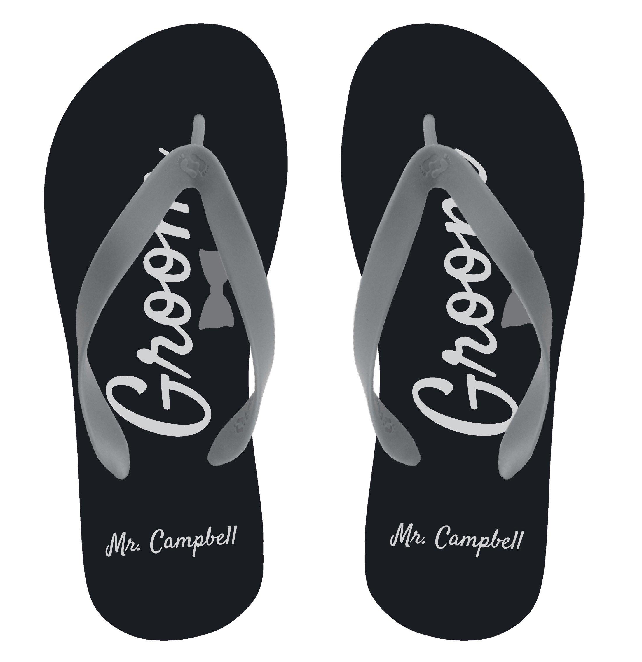FlipSidez Personalized Groom Flip Flops