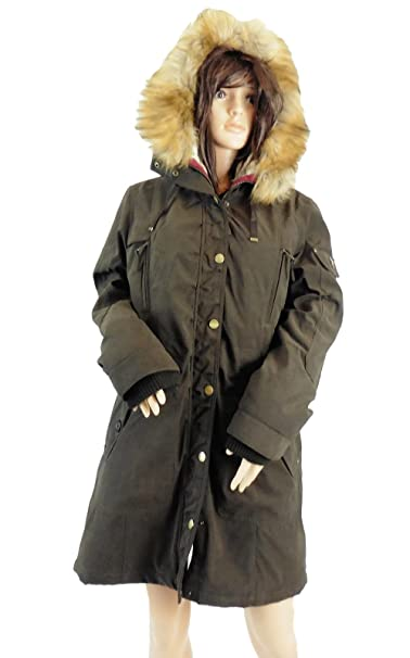 1 Madison Expedition Ladies Anorak Jacket Faux Fur Hood
