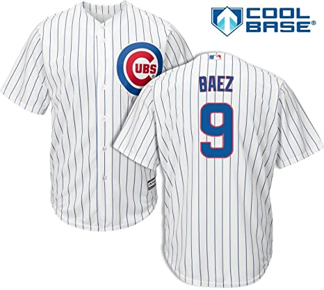 low priced 03481 addef Javier Baez Chicago Cubs Kids Cool Base White Replica Jersey Small 4
