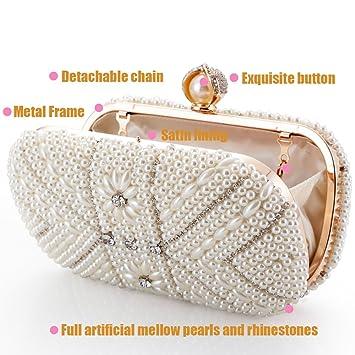 Luxus Abendtasche Handtasche Perlen Kristall Tasche Schultertasche Brauttasche Braut-accessoires