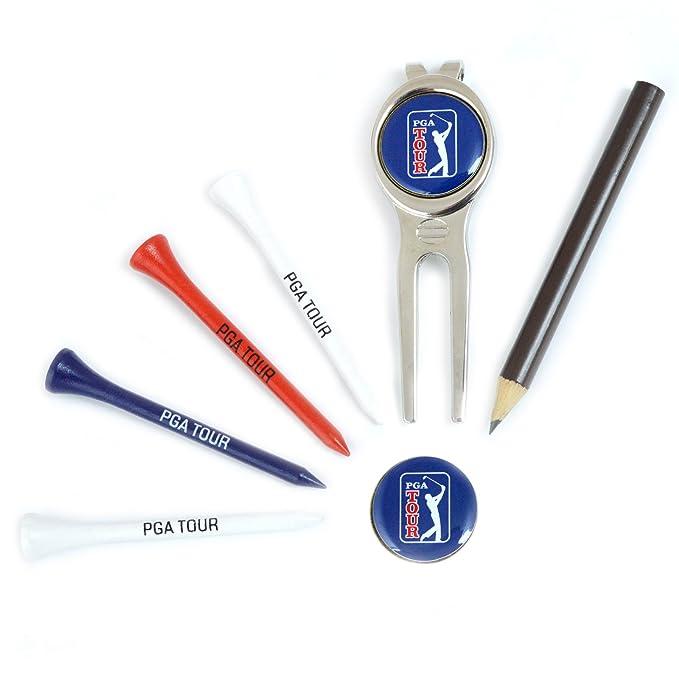 PGA Tour PGAT80A - Tarjeta de puntuación de Cuero y Cartera de Golf
