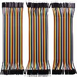 Longruner 120pcs Breadboard Câbles DuPont pour Arduino UNO MEGA 2560 NANO/Raspberry Pi 3 40pin Mâle vers Femelle, 40pin Mâle vers Mâle,40pin Femelle vers Femelle Breadboard Jumper fils Dupont fils kit