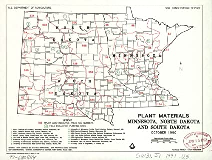 Amazon.com: Vintage 1991 Map of Plant materials, Minnesota, North ...
