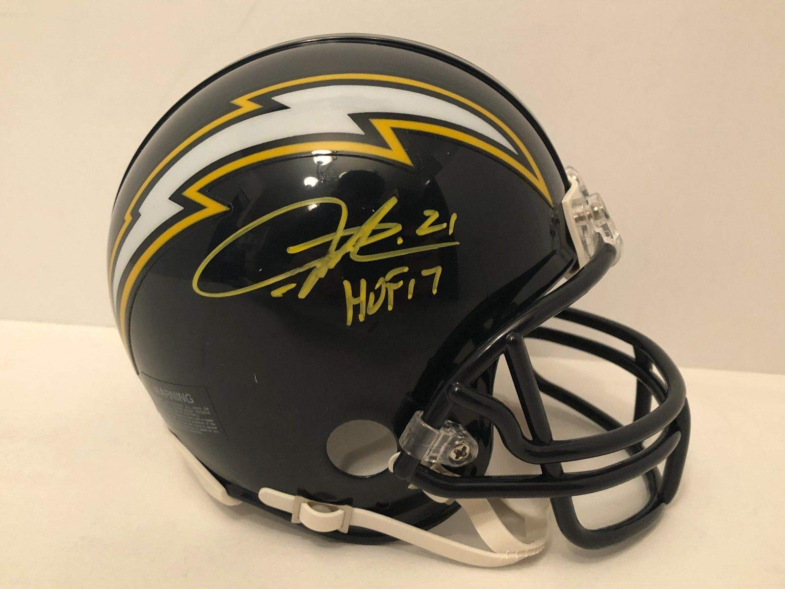 LaDainian Tomlinson San Diego Chargers Signed Autograph Mini Helmet HOF Inscribed GTSM Player Hologram JSA Witnessed Certified