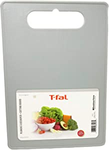 Plastic Cutting Board With Handle, Food Safe Grade Quality Plastic Material, Dishwasher Friendly, Chopping Board, Large Size (14 x 9 1/2) For Kitchen (Grey)