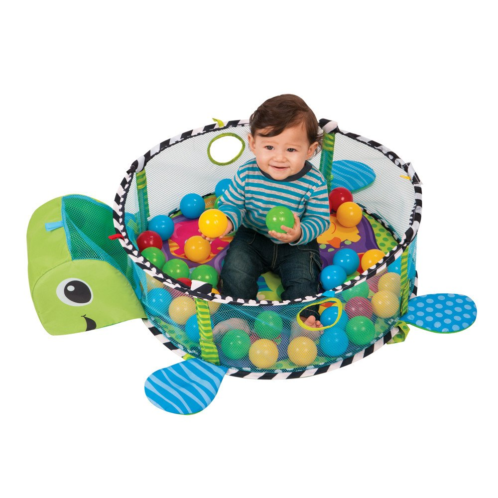 ball pit for babies. amazon.com : infantino grow-with-me baby activity gym/playmat and ball pit with bonus hypoallergenic, unscented wipes, 128 count for babies