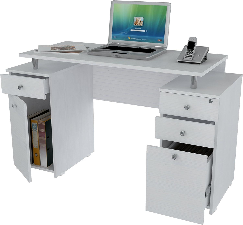 Amazon.com: Michael Anthony Furniture Laricina-White Computer Desk