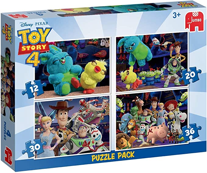 Jumbo- ToyStory 4 4in1 Disney Pixar Toy Story 4 en 1 Puzzle Pack ...