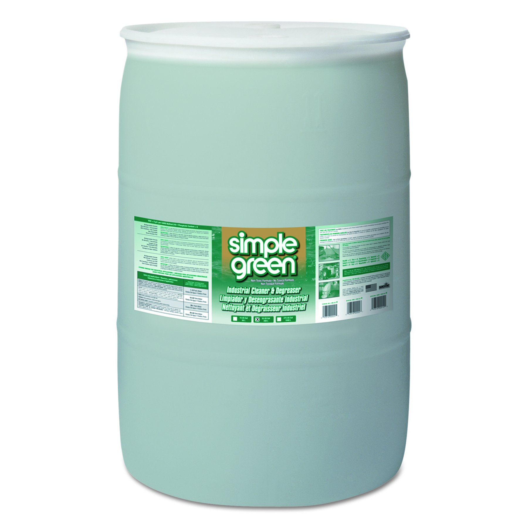 Simple Green 13008 Industrial Cleaner & Degreaser, Concentrated, 55 Gallon Drum