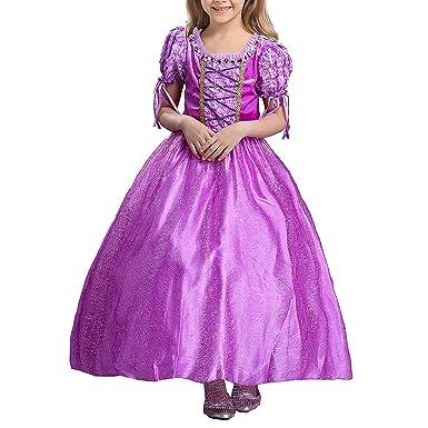 c616bcb4e7623 ラプンツェル ドレス 子供用 塔の上のラプンツェル パープル プリンセス ドレス (パープル