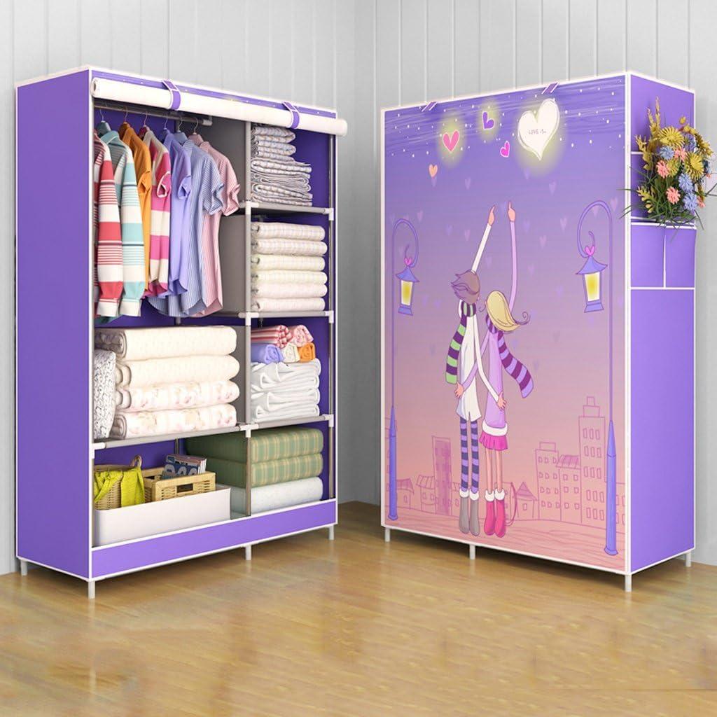 MMM/& Armarios sencillos Armarios plegables de espesor de tubo de acero Armarios de almacenamiento de ensamblaje Color : # 2