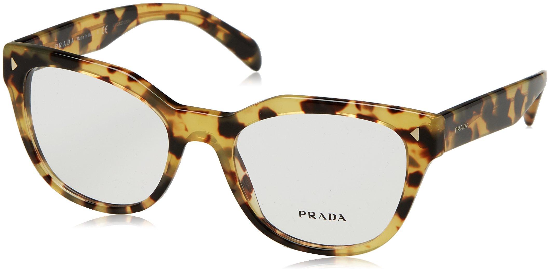 Prada PR21SV Eyeglass Frames 7S01O1-53 - Medium Havana PR21SV-7S01O1-53