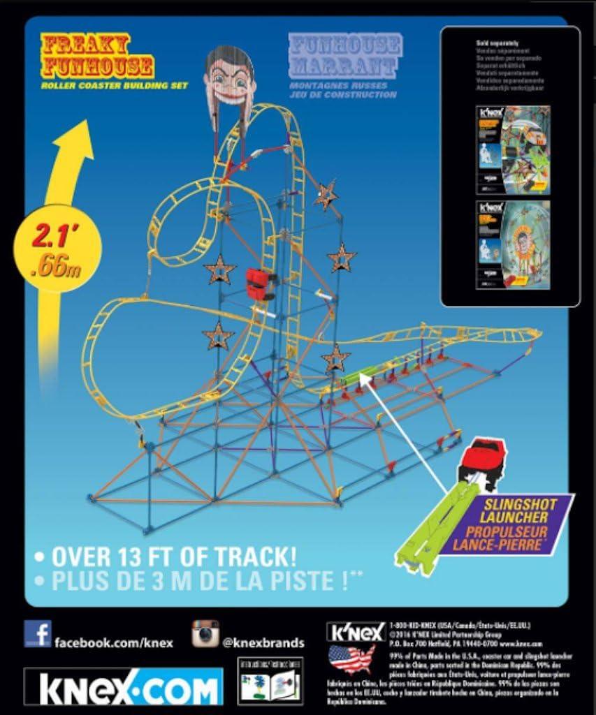 KNex Freaky Funhouse Juego de construcción de montaña Rusa: Amazon.es: Juguetes y juegos