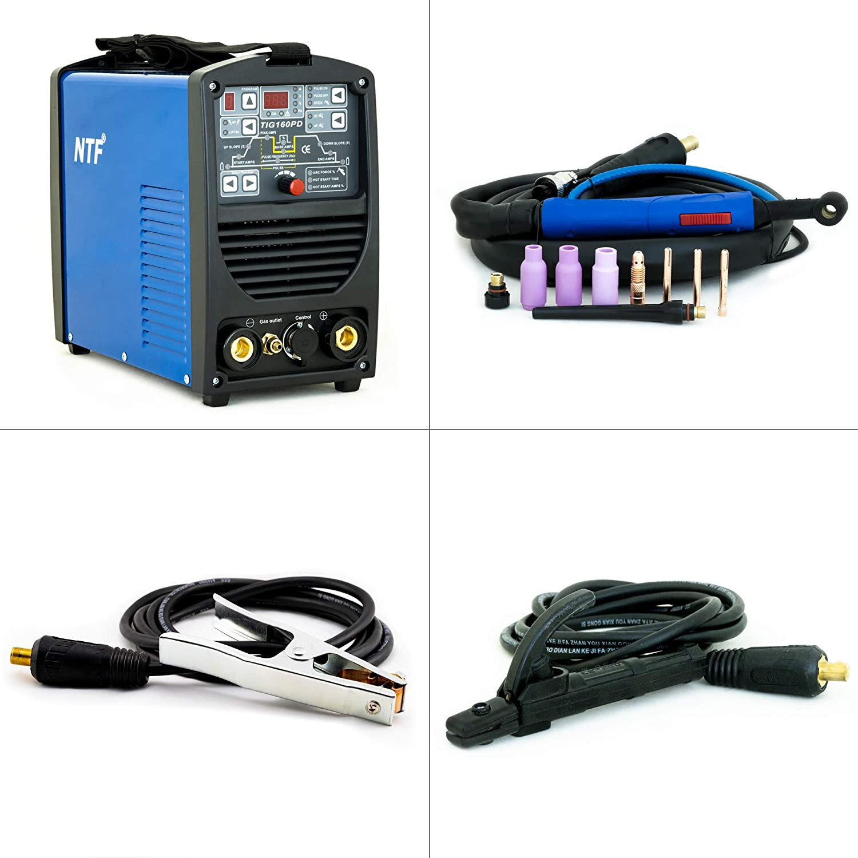 Unidad de Soldadura inverter totalmente digital con encendido HF | función de pulso | MMA | IGBT: Amazon.es: Industria, ...