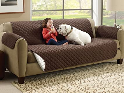 VMORE Reversible Couch Cover for Dogs, Kids, Pets - Sofa Slipcover Set Furniture Protector