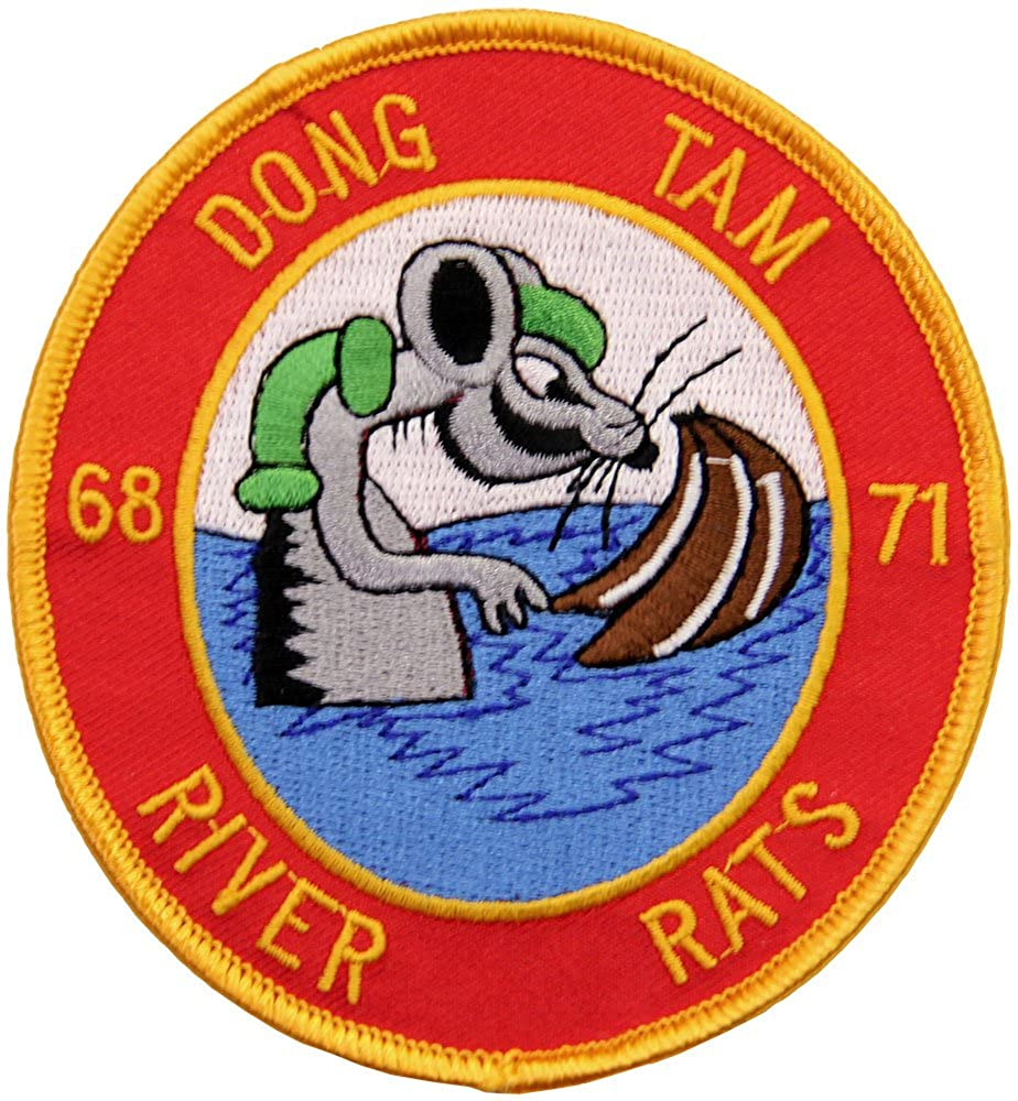 Dong Tam River Rats 68-71, Brown Water Navy Vietnam Patch Full Color