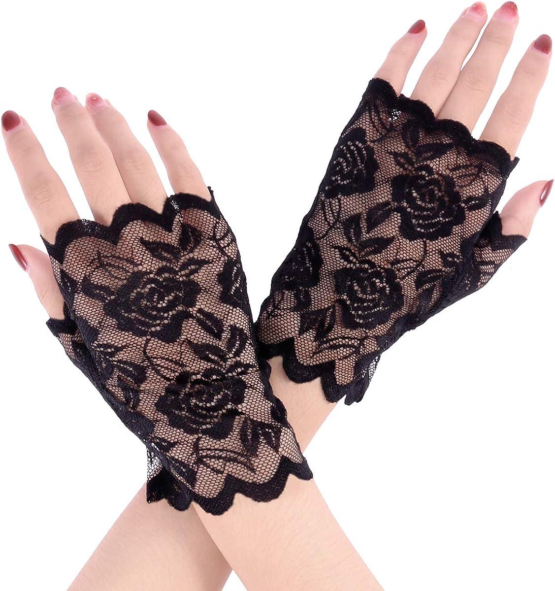 Color : Black, Size : One Size der d/ünne Handschuhe antreibt Outdoor UV-Schutz Damen-Sonnenschutz-Halbfingerhandschuhe UV-Schutz-Handschutz Sonnenschutz-Handschuhe