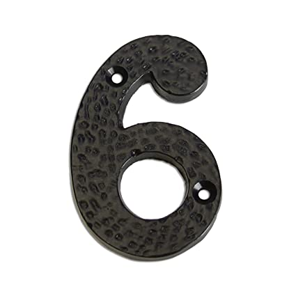 European Country Style RCH Hardware 5303BLK50 Wrought Iron 2 Tall House Number Matching Screws Included 2 Inch 3 Black