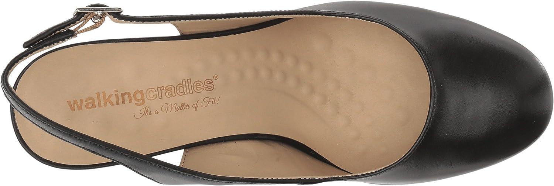 Walking Cradles Womens Michaela Black Leather 6 M US