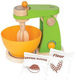 hape mighty mixer wooden play kitchen set with accessories amazon com  hape mighty mixer wooden play kitchen set with      rh   amazon com