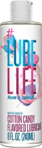 #LubeLife Water Based Cotton Candy Flavored Lubricant, 8 Ounce Oral Lube for Men, Women and Couples