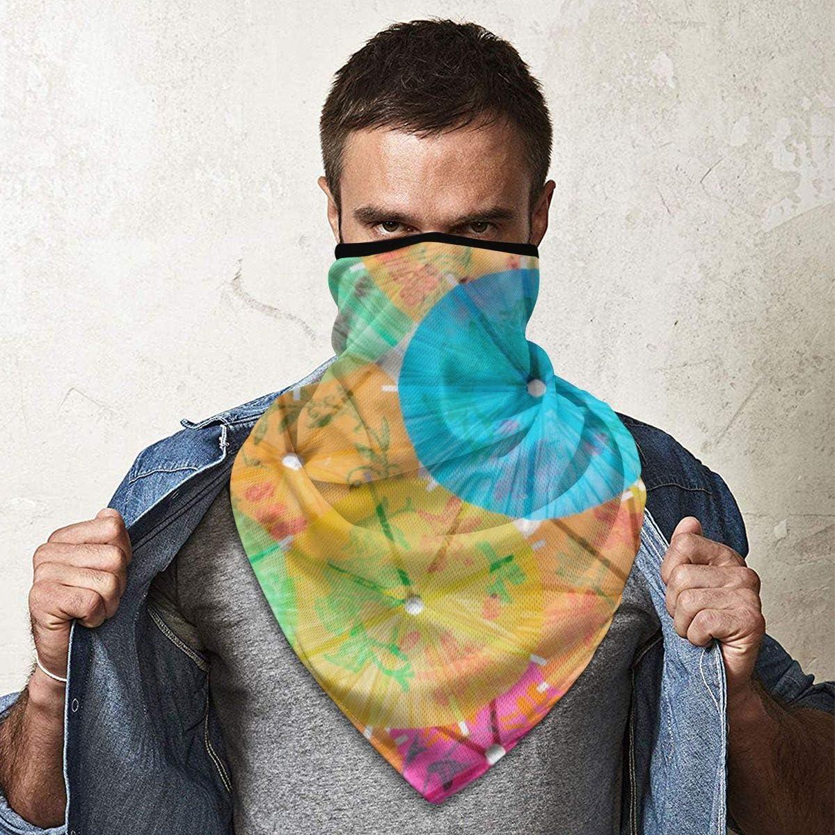 Colorful Mosaics Background Headband Face Mask Bandana Head Wrap Scarf Neck Warmer Headwear Balaclava For Sports