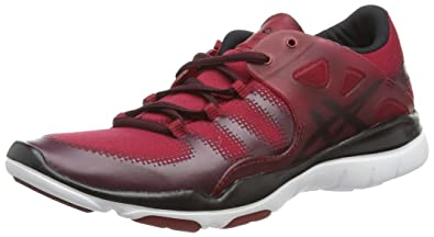 Asics Gel-Fit Vida, Damen Laufschuhe, Rot (Warm Red/Onyx/Royal Burgundy 2499), 41.5 EU