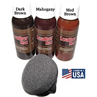 Leather Max Quick Blend Refinish and Repair Kit, Restore, Recolor & Repair / 3 Color Shades to Blend with/Leather Vinyl Bonded and More
