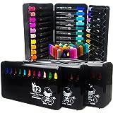 Peinture Kit de 36 Feutres de Coloriage Aquarelle Pointe Ogive Souple Crayons de Couleurs Stylos de Marqueurs Artiste Dessin Coloris Assortis Pour Adultes Enfants Meilleur Cadeau