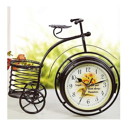 XHH Reloj de Escritorio - Reloj Creativo con Forma de Bicicleta de ...