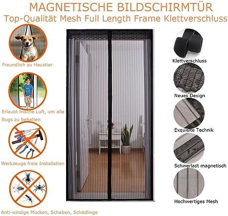 Bermud magnético Mosquitera para puerta protección contra insectos, mosquitera para puerta, Magnetic Screen Door, imán de la cortina es ideal para la puerta para balcón Salón, Puerta corredera, 90 * 210 cm/100 *