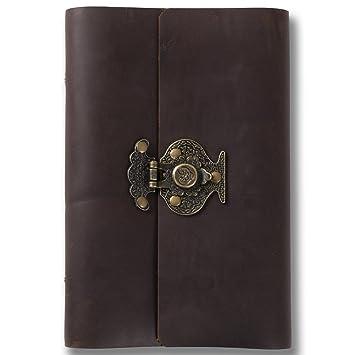 Cuaderno diario de piel auténtica Ancicraft recargables ...