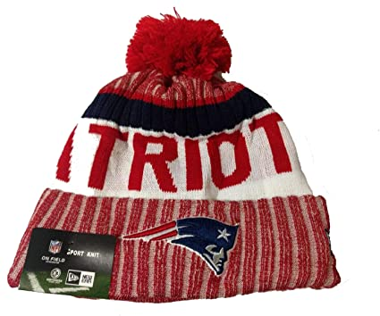 New England Patriots  quot Biggest Ugly quot  Beanie Hat with Pom - NFL  Cuffed Winter 6e709692927a