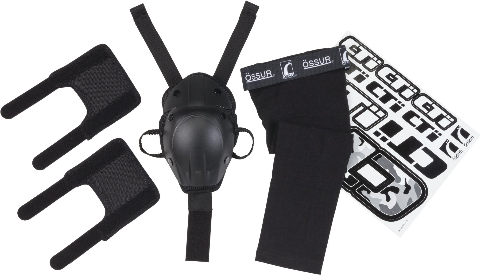 Ossur CTi Motocross MX Kit v2 - for CTi Knee Brace - Single Set Includes Patella Protection Cup, Gear Guards, Under-Sleeve and Sticker Sheet (Medium)