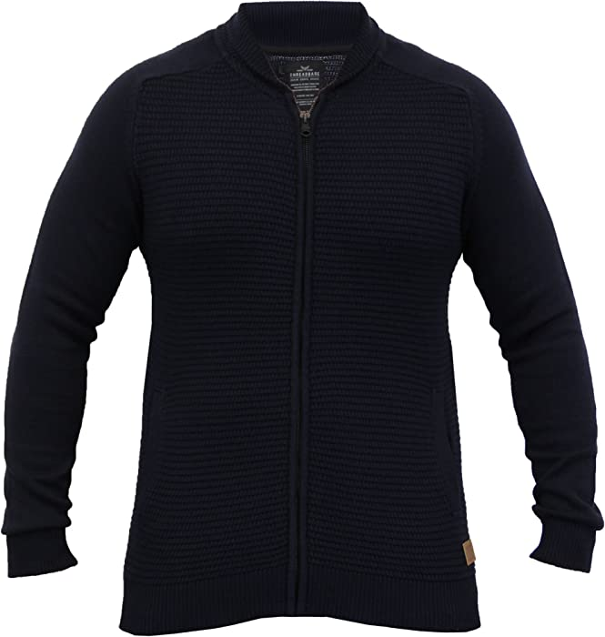 f3e1a3299a5 Threadbare Men s Cardigans IMV034PKA Navy UK Medium US Small at ...
