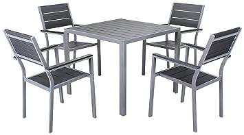 Amazon De Miweba Bermuda Polywood 4 1 Aluminium Sitzgarnitur 90x90