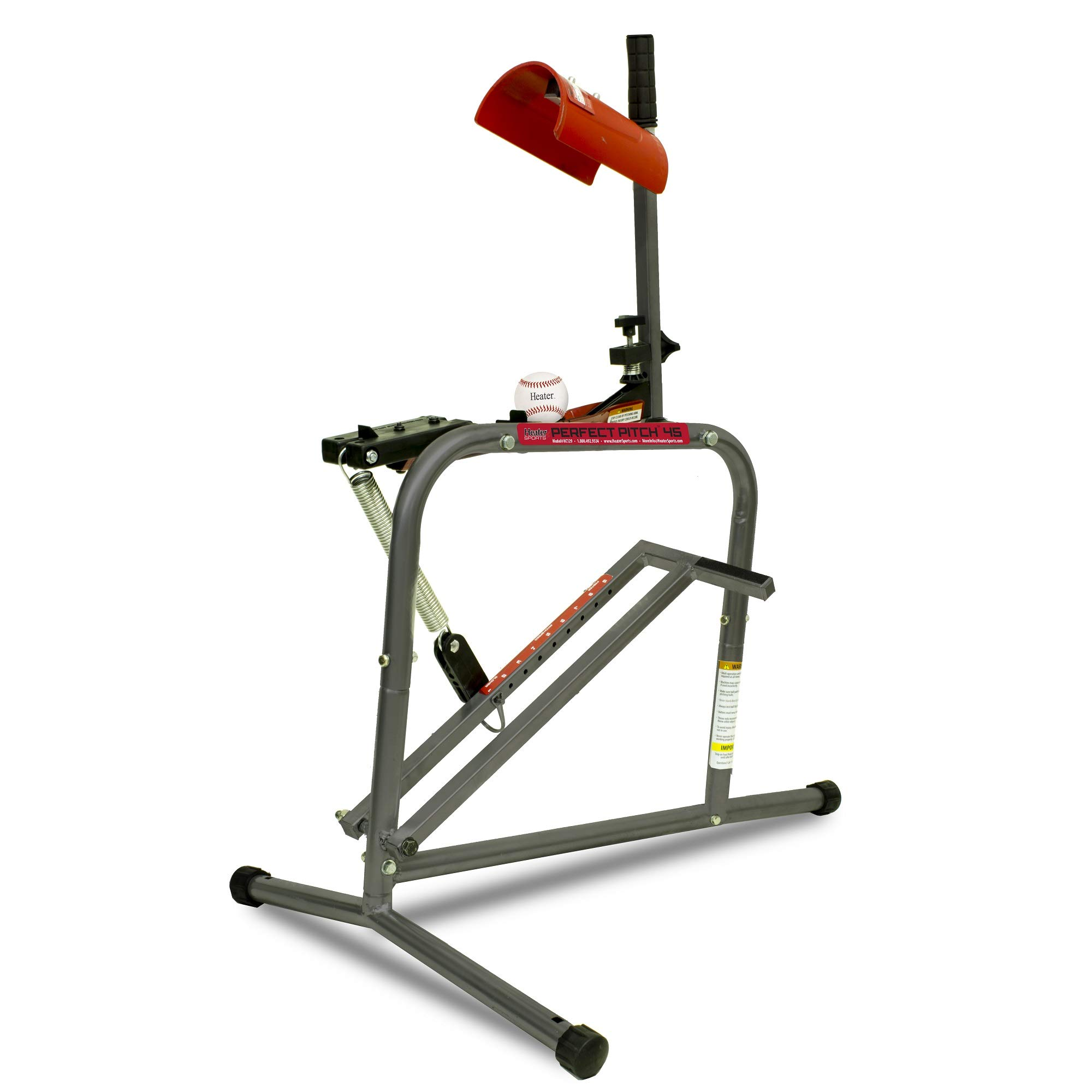 Heater Sports Perfect Pitch 45 MPH Baseball & Softball Pitching Machine for Kids, Teens, Adults, Pitch League, and Coach Pitch - HC129 by Heater Sports