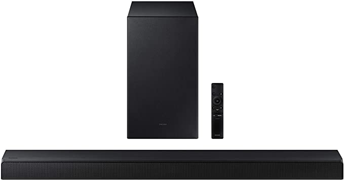 Samsung HW-A450/ZA 2.1ch Soundbar with Dolby Audio (2021) , Black   Amazon