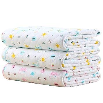 Baby Infant Wasserdicht Matte Wickelauflage - Ökologische Baumwolle Atmungsaktiv Wiederverwendbar Matratze Pad Packung mit 3