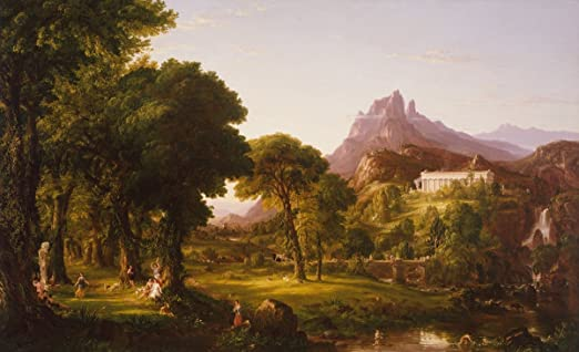 Thomas Cole Architect/'s Dream Giclee Canvas Print Paintings Poster LARGE SIZE
