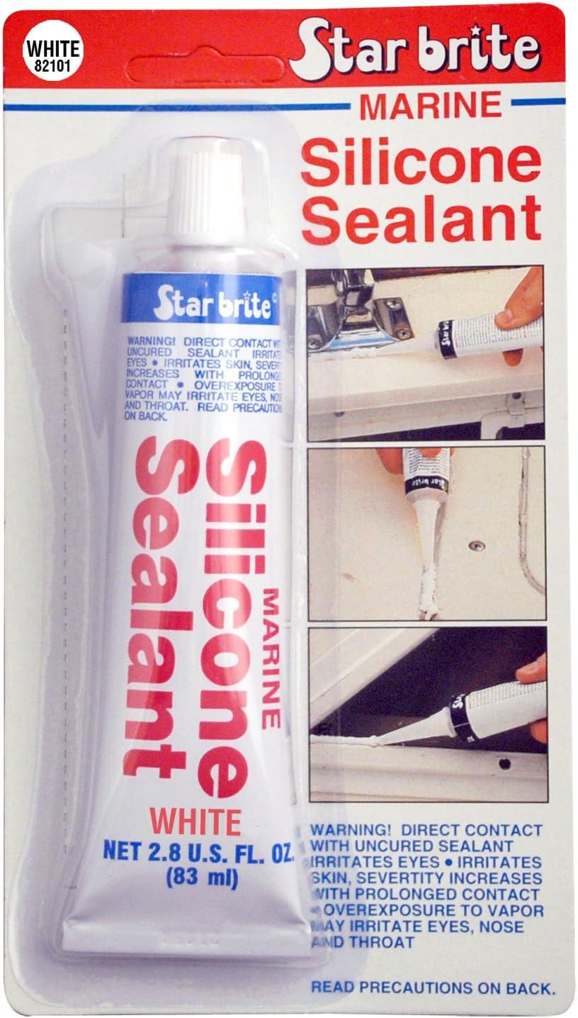 STAR BRITE Marine Silicone Sealant - White, 3 oz