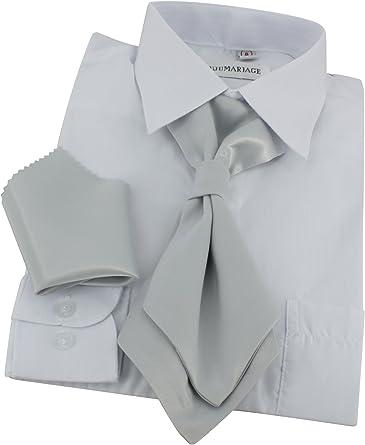 Corbata Lavallière niño + Pochette gris plateado Talla única ...