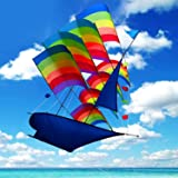 Tresbro Sailing Ship Kite Flying for Beach, 3D Cool Big Chinese Kites for Kids and Adults, Outdoor Games and Activities for Fun and Memorable