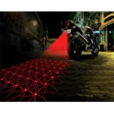 Inkach Motorcycle 3 Style Light Anti-collision LED Fog Lights Taillight Anti-fog Tail Light (Style 1)