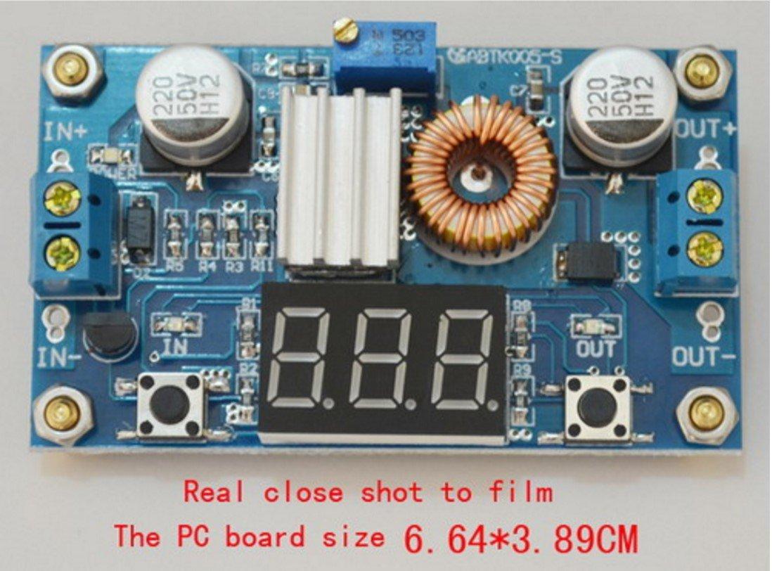 DC-DC Step Down Power Module LED Voltmeter 4V-38V to 1.25V-36V 5A Adjustable
