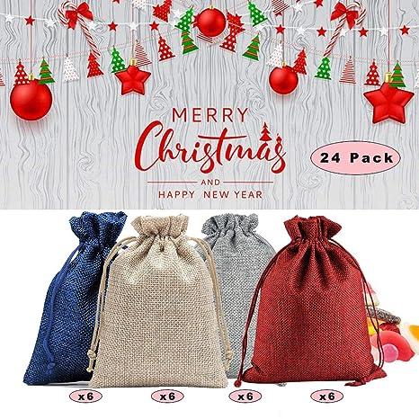 Bolsas de calendario de cuenta regresiva de Navidad,24 ...