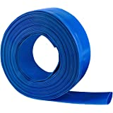 "Eastrans 2"" x 100 FT Heavy Duty Reinforced PVC Lay Flat Discharge and Backwash Hose for Swimming Pools"
