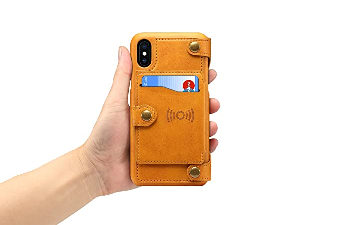 Amazon.com: iPhone X Case,iPhone X Wallet Case,Simple 8 Card Holder Slots 2-IN-1 Detachable Card Slot Zipper Purse Universal Leather Wallet Case For iPhone ...