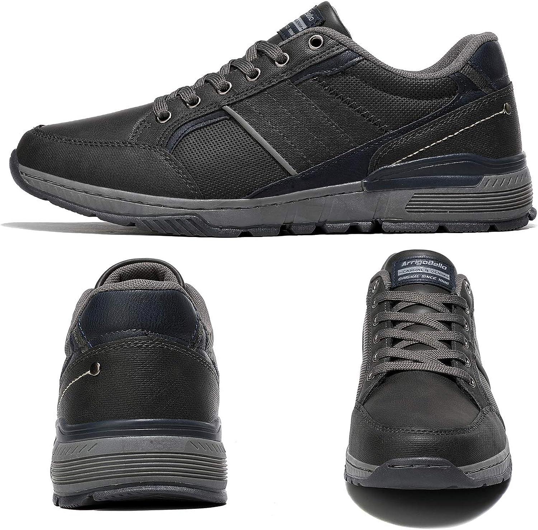 AX BOXING Freizeitschuhe Herren Walkingschuhe Berufsschuhe Sneaker Wanderschuhe Trainers Größe 41-46 Erde Grau