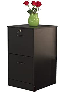 Target Marketing Systems Wilson 2 Drawer Filing Cabinet With Lock, Black